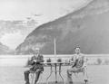 Jigoro Kano and Shigetaka Sasaki at Lake Louise - 1936.png