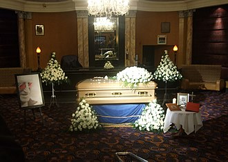 Jimmy Savile - Savile's coffin on display at the Queens Hotel in Leeds, 8 November 2011