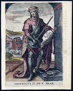 Henry II, Duke of Brabant Duke of Brabant and Lothier from 1235
