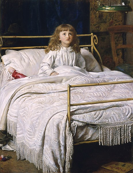 https://upload.wikimedia.org/wikipedia/commons/thumb/c/c1/John_Everett_Millais_-_Waking%2C_1865%2C_Perth.jpg/462px-John_Everett_Millais_-_Waking%2C_1865%2C_Perth.jpg