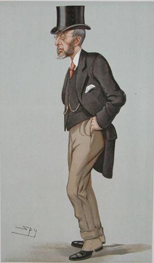 "John Gilbert Talbot - ""Oxford University"" Talbot as caricatured by Spy (Leslie Ward) in Vanity Fair, July 1897"