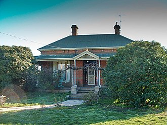 John McEwen - McEwen's birthplace, located at 73 Main Street, Chiltern, Victoria.