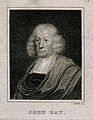 John Ray. Stipple engraving by J. Roffe, 1820, after Mary Be Wellcome V0004939EL.jpg