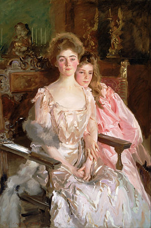 Fiske Warren - Mrs. Fiske Warren (Gretchen Osgood) and Her Daughter Rachel, 1903, John Singer Sargent (Museum of Fine Arts (Boston))
