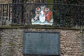 John Vesey - Memorial dedicated to Vesey in Vesey Gardens, located to the side of Holy Trinity Church in Sutton Coldfield where he is buried