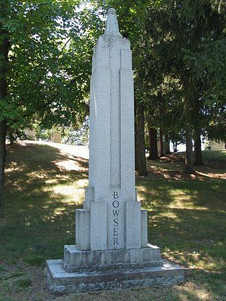 John W. Bowser - John W. Bowser gravestone