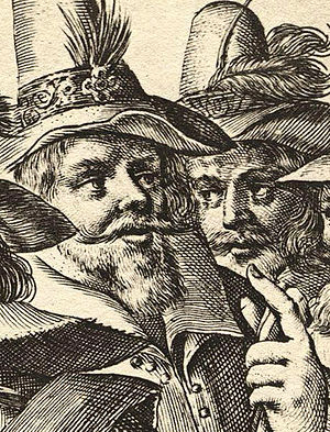 John and Christopher Wright - A contemporary engraving of Christopher (left) and John Wright, from a larger image by Crispijn van de Passe