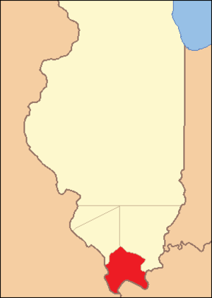 Johnson County, Illinois - Image: Johnson County Illinois 1812