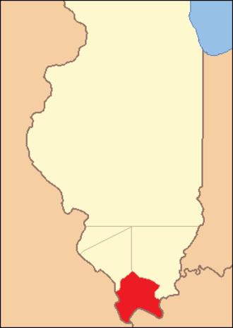 Johnson County, Illinois - Image: Johnson County Illinois 1812