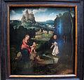 Joos van cleve, domenicano che offre il suo cuore alla madonna col bambino, 1500-1520 ca..JPG