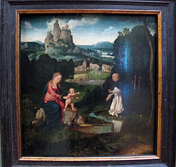 Joos van Cleve: Madonna and Child with a Dominican Offering His Heart