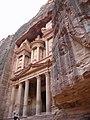 Jordan, Petra, Khaznat el- Faroun or Pharaoh's treasury (The most remarkable monument in Petra) (detail 5).jpg