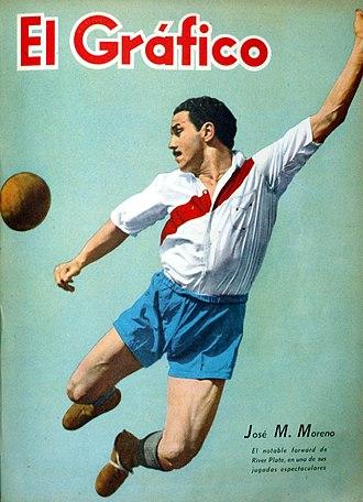 """José Manuel Moreno - José M. Moreno on cover of """"El Gráfico"""" magazine, october 1941"""