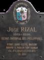 José Rizal gedenkplaat Henegouwenstraat Gent.png