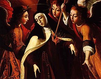 Christian contemplation - Ecstasy of Saint Teresa of Avila by Josefa de Óbidos (1672)