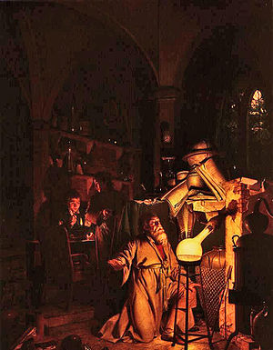 "Early history of fantasy - ""The Alchemist"" by Joseph Wright of Derby:  many historical beliefs and stories have been sources for the genre of fantasy."