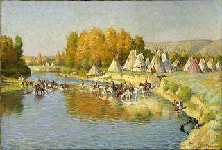 Encampment of Crow Indians