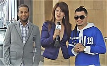 Ortiz (left) and Muñoz (right) interviewed by Dulce Osuna in 2010