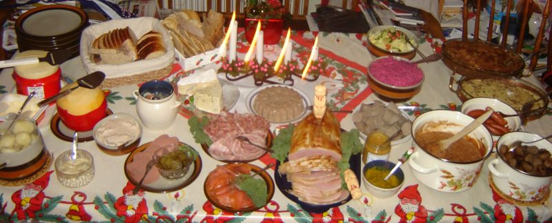 Julbord Christmas dinner in Sweden Julbord.jpg