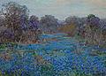 Julian Onderdonk - Field of Bluebonnets with Trees.jpg