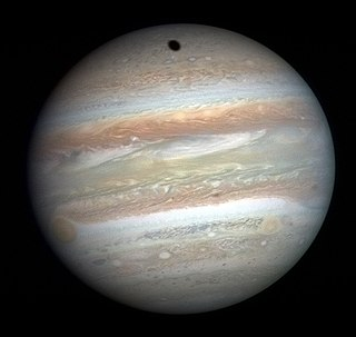 Gas giant Giant planet which mainly consists of light elements such as hydrogen and helium