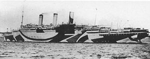 SS Justicia - Justicia in dazzle paint