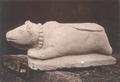KITLV 87717 - Isidore van Kinsbergen - Sculpture of Nandi from the Dijeng plateau - Before 1900.tif