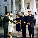 KN-C17754. Guests Arrive for Presentation Ceremony of the NASA Distinguished Service Medal to Astronaut Commander Alan B. Shepard, Jr.jpg
