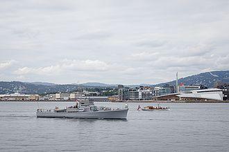HNoMS Hitra - Hitra in Oslo harbour in 2014
