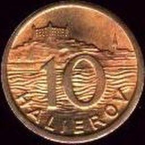 Coins of the Slovak koruna (1939–45) - Image: K Sh 10 1942 reverse