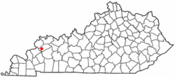Location of Clay, Kentucky