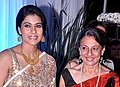 Kajol and Tanuja at Esha Deol's wedding reception 07.jpg