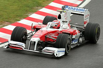 Kamui Kobayashi - Kobayashi deputising for Timo Glock during practice for the 2009 Japanese Grand Prix