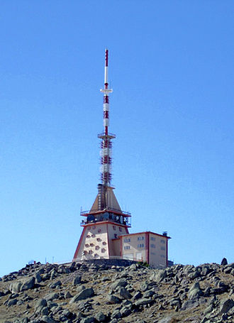 Television transmitter - A typical TV station at Karadağ, Karaman, Turkey
