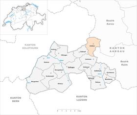 Karte von Kölliken