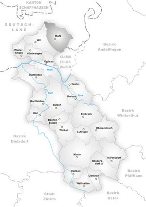 Rafz - Image: Karte Gemeinde Rafz