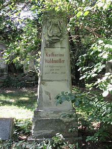 Grab von Katharina Waldmüller auf dem Sankt Marxer Friedhof (Quelle: Wikimedia)