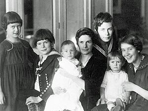 Monika Mann - Monika Mann (first left) with her mother and siblings, 1919