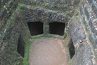 Kattukampal 4chambered laterite megalithic burial site.JPG