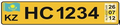 Kazakhstan Honorary Consul license plate (front).png