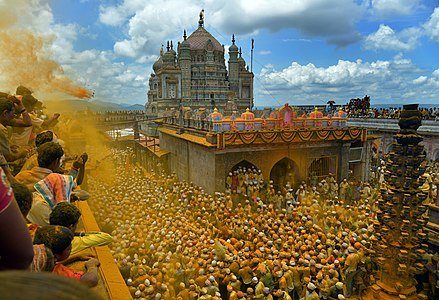 Temple dedicated to Khanderaya, also known as Khandoba, located in Jejuri, Pune, Maharashtra, India.