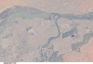 Khartoum - Satellite view of Khartoum