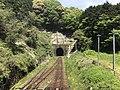 Kidoyama Tunnel from overpass of Niho Station.jpg