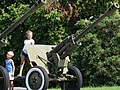 Kids on Artillery Piece - Outside National Museum of the History of Ukraine in World War Two - Kiev - Ukraine (43739379281).jpg