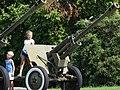 Kids on Artillery Piece - Outside National Museum of the History of Ukraine in World War Two - Kiev - Ukraine (43739379281).jpg