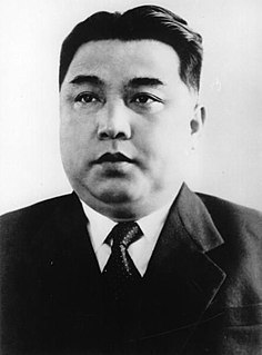 Kim Il-sung President of the Democratic Peoples Republic of Korea