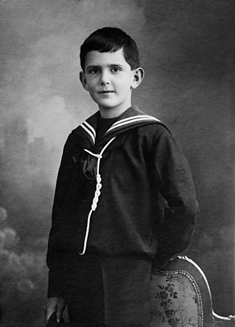 Photo of Umberto, Prince of Piedmont, prior to the First World War King Umberto II of Italy as a child.jpg