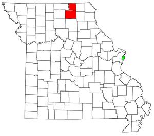 Kirksville micropolitan area, Missouri - Image: Kirksville micropolitan area