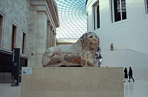 Knidos - Lion of Knidos on display in the British Museum, London