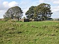 Knowehead, old enclosure and farm buildings - geograph.org.uk - 252130.jpg